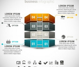 Pizzle modern infographic template vector 07