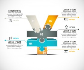 Pizzle modern infographic template vector 08