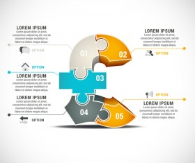 Pizzle modern infographic template vector 09