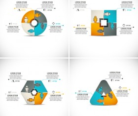 Pizzle modern infographic template vector 10