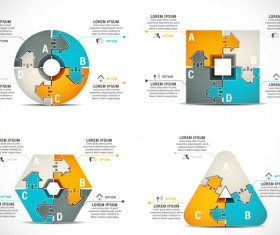 Pizzle modern infographic template vector 11