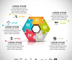 Pizzle modern infographic template vector 15