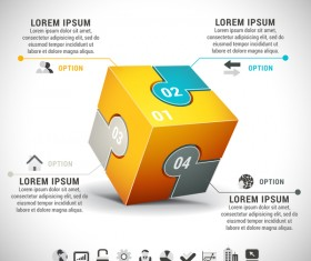 Pizzle modern infographic template vector 18