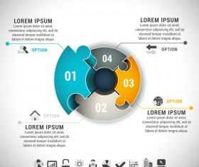 Pizzle modern infographic template vector 21