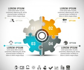 Pizzle modern infographic template vector 22
