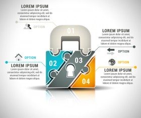 Pizzle modern infographic template vector 23
