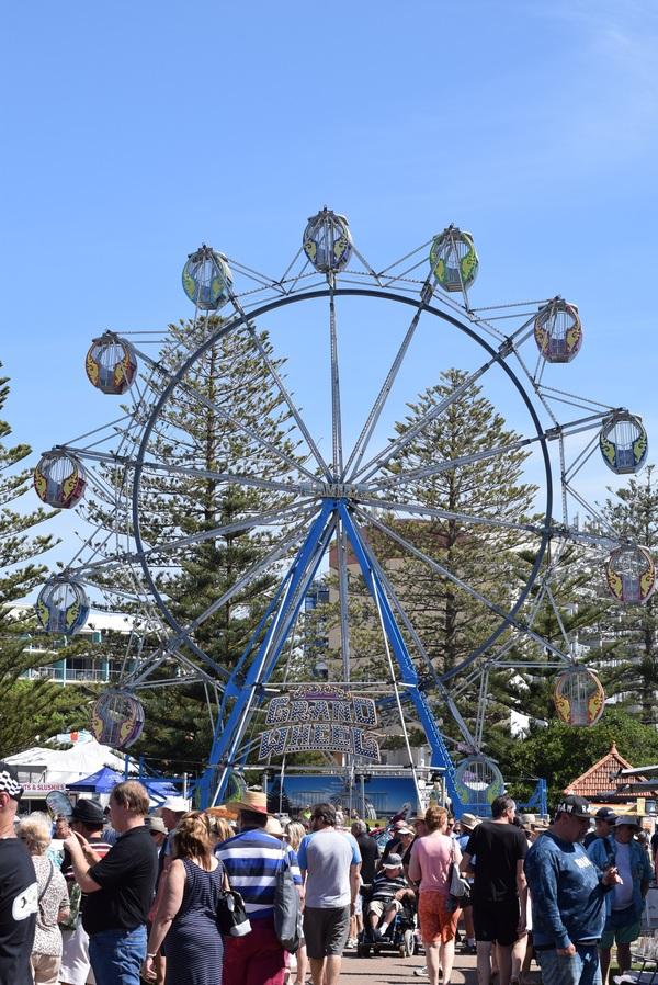 Playground spin Ferris wheel Stock Photo