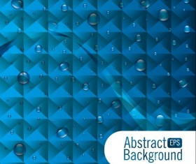 Polygon abstract background with water drop vector