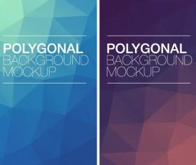 Polygonal vertical banners vectors set 02