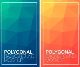 Polygonal vertical banners vectors set 06