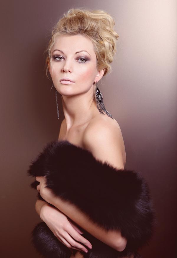 Pretty fashionable woman makeup Stock Photo