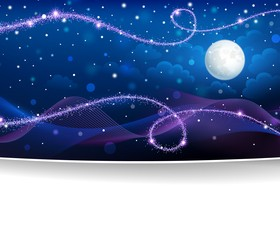 Purple christmas night background abstract vector