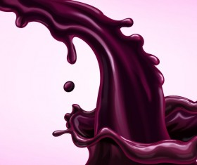 Purple juice splash effect vector