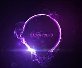 Purple modern background with abstract effect vector
