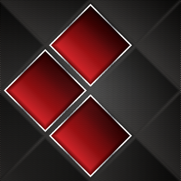 Red with black abstract metal background vector - Vector ...