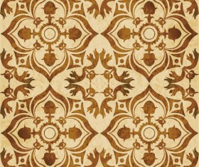 Retro kaleidoscope floral seamless pattern vector 10