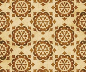 Retro kaleidoscope floral seamless pattern vector 12