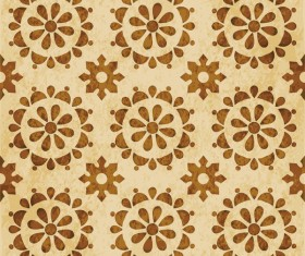 Retro kaleidoscope floral seamless pattern vector 13