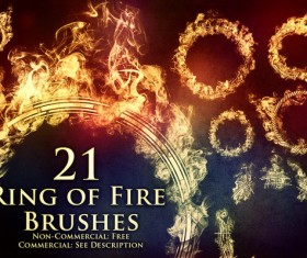 Ring of Fire photoshop brushes