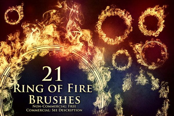 fire brush photoshop