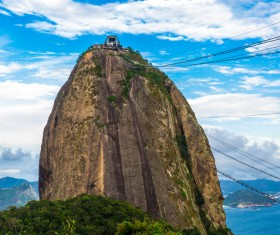 Rio De Janeiro sugar bread mountain cable car Stock Photo 01