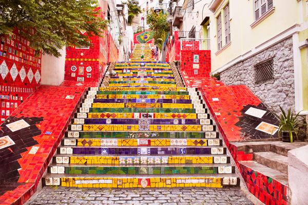 Rio de Janeiro Art Stairs Stock Photo