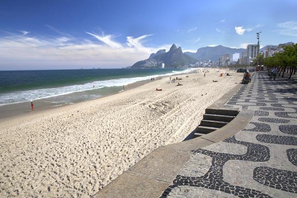 Rio de Janeiro Ipanema Beach Stock Photo