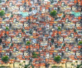 Rio de Janeiro slums in Brazil Stock Photo 01