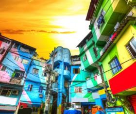 Rio de Janeiro slums in Brazil Stock Photo 02