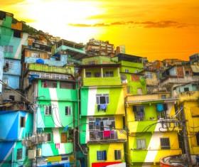 Rio de Janeiro slums in Brazil Stock Photo 03