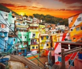 Rio de Janeiro slums in Brazil Stock Photo 04