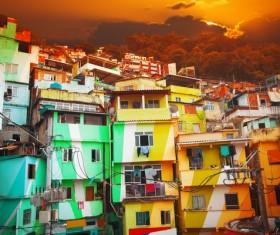 Rio de Janeiro slums in Brazil Stock Photo 05