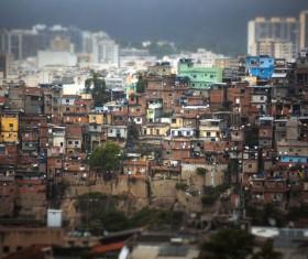 Rio de Janeiro slums in Brazil Stock Photo 06