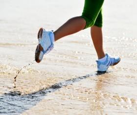 Run on the beach Stock Photo 01