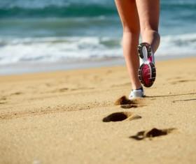 Run on the beach Stock Photo 02