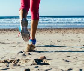 Run on the beach Stock Photo 03