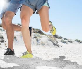 Run on the beach Stock Photo 05