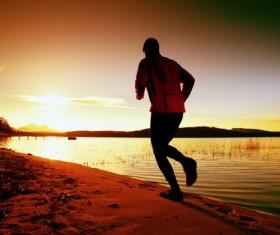 Run on the beach Stock Photo 06