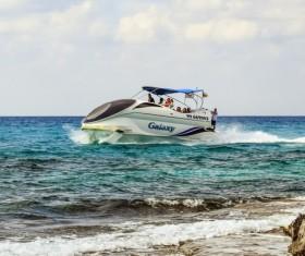 Sea high speed yacht Stock Photo