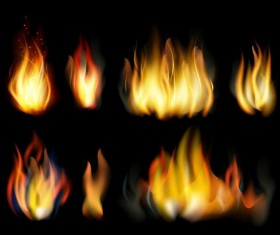 Set of fires illustration vector 04