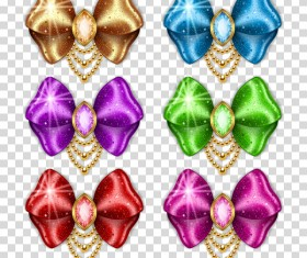 Set of satin bows vector illustration