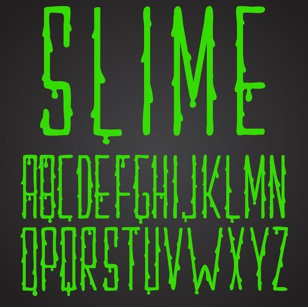 Shiny green drop alphabet vector