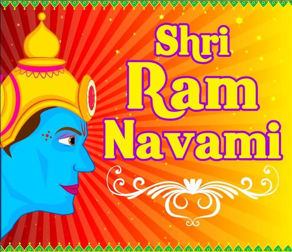 Shri ram navami vector background