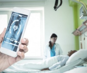 Smart phones are used in medical applications Stock Photo 01