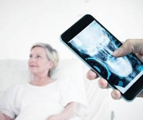 Smart phones are used in medical applications Stock Photo 02