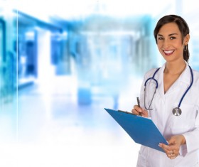 Smiling young female doctor Stock Photo