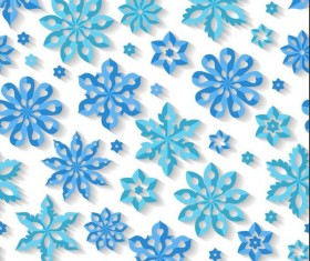Snowflake paper cut pattern seamless vector 01