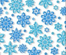 Snowflake paper cut pattern seamless vector 01
