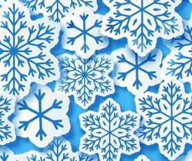 Snowflake paper cut pattern seamless vector 02