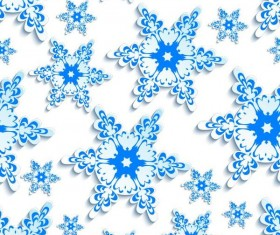 Snowflake paper cut pattern seamless vector 03